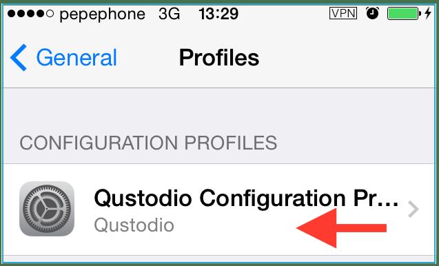 Qustodio profile